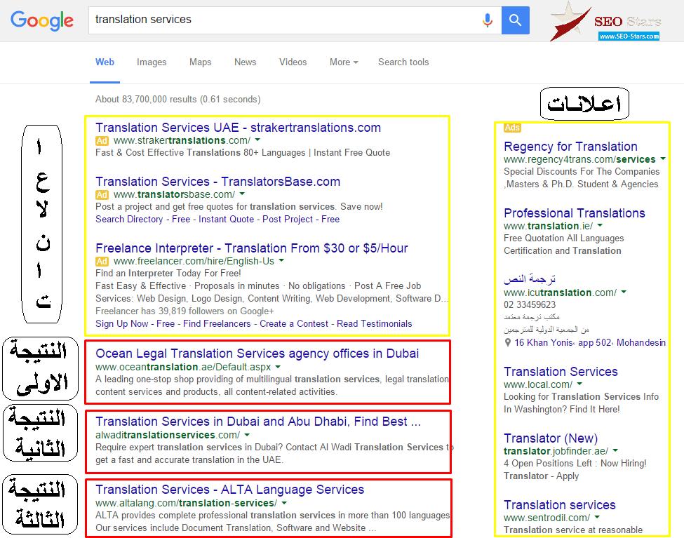 نتائج بحث جوجل - ما هو السيو SEO