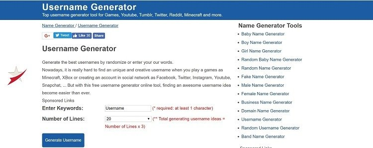 موقع YouTube Username Generator