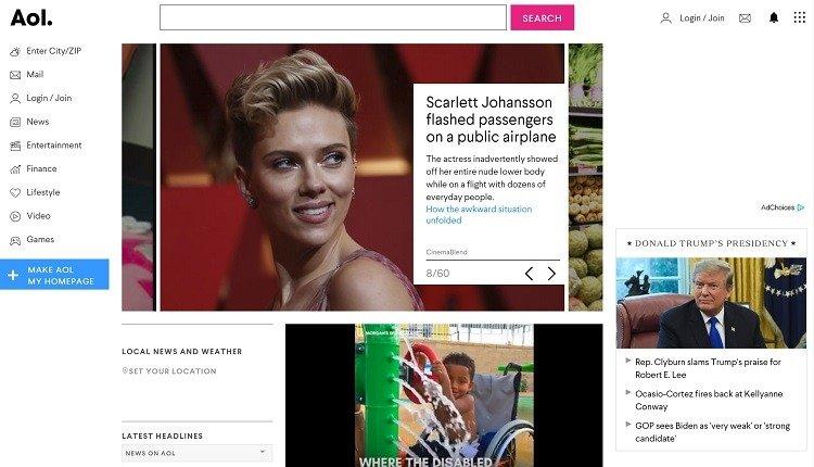 محرك بحث AOL.com